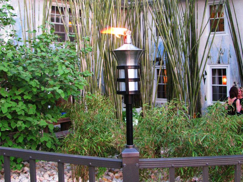 2.5in Aluminum Fence Tiki Torch